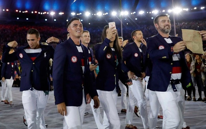 Golfers in the Olympics
